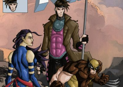 Wolverine, Gambit, Psylocke (Jan 2019) - Colored